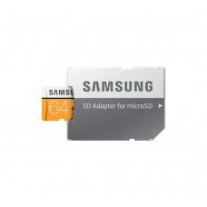 Карта памяти Samsung UHS-I 64GB сlass10 + SD адаптер (MB-MC64GA/RU)