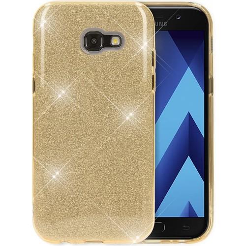 Силикон Glitter Samsung Galaxy A3 (2017) A320 (Золотой)