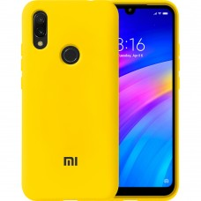 Силикон Original Case Xiaomi Redmi 7 (Жёлтый)