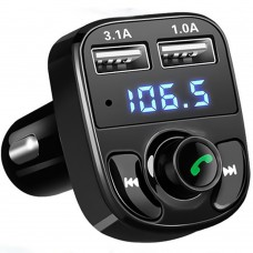 FM - модулятор A2 Player (Bluetooth, MicroSD, USB, Aux) Black