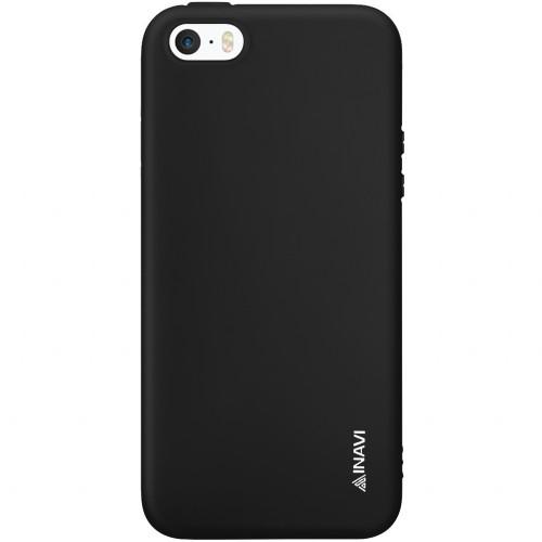 Силикон iNavi Color Apple iPhone 5 / 5s / SE (черный)