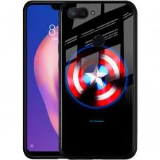 Накладка Luminous Glass Case Xiaomi Mi8 Lite (Captain America)
