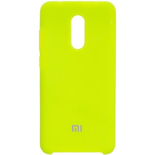 Силиконовый чехол Original Case Xiaomi Redmi 5 Plus (Лайм)