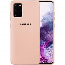 Силикон Original Case Samsung Galaxy S20 Plus (Пудровый)