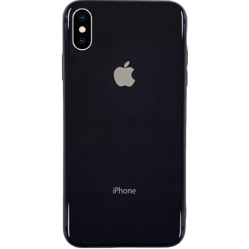Накладка Premium Glass Case Apple iPhone X / XS (черный)
