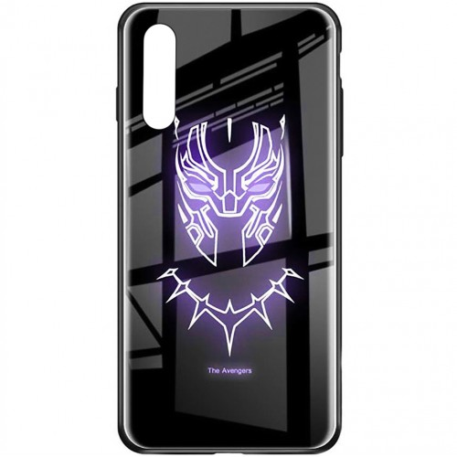 Накладка Luminous Glass Case Samsung A50 (2019) (Black Panther)