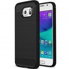 Силикон Polished Carbon Samsung Galaxy S6 (Чёрный)