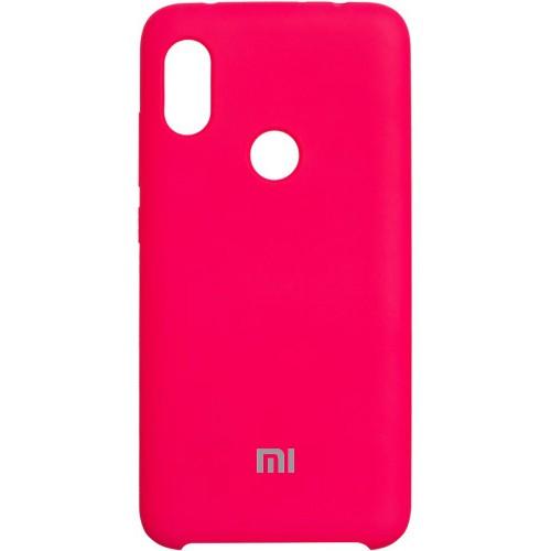 Силикон Original 360 Case Logo Xiaomi Redmi Note 7 (Малиновый)