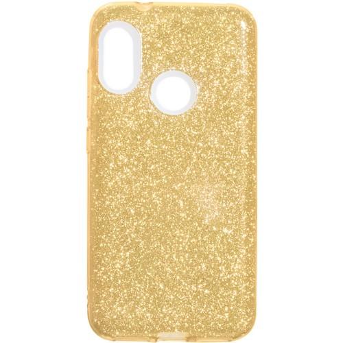 Силиконовый чехол Glitter Xiaomi Redmi 6 Pro / Mi A2 Lite (Золотой)