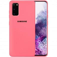 Силикон Original Case Samsung Galaxy S20 (Клубничный)
