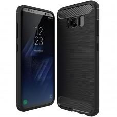 Силиконовый чехол Polished Carbon Samsung Galaxy S8 (Чёрный)