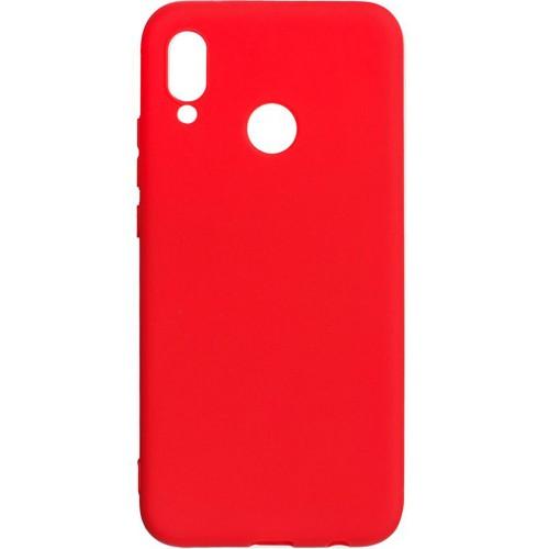 Силиконовый чехол iNavi Color Huawei P20 Lite (красный)