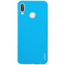 Силиконовый чехол iNavi Color Huawei P20 Lite (голубой)