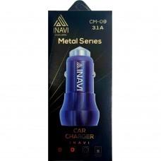 АЗУ iNavi 2в1 Micro 2USB / 3.1A (CM-09) (серебрянный)