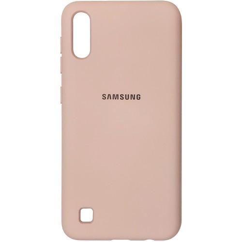Силикон Original Case (HQ) Samsung Galaxy A10 / M10 (2019) (Пудровый)