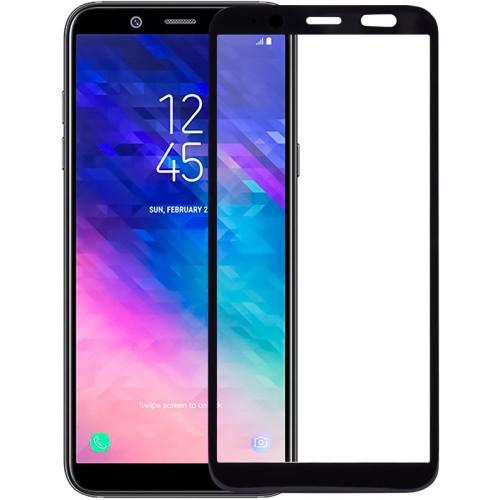 Стекло Samsung Galaxy A6 (2018) A600 Black (Клей)