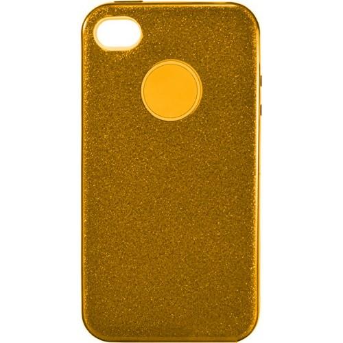 Силиконовый чехол SHINE Apple iPhone 4 / 4s (золотой)