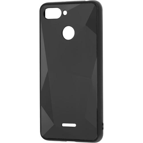 Силиконовый чехол Rock 3D Crystal Xiaomi Redmi 6 (Чёрный)