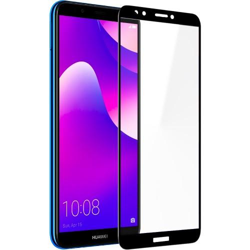 Защитное стекло для Huawei Y7 (2018) / Y7 Prime (2018) / Honor 7C Pro Black (Кле..