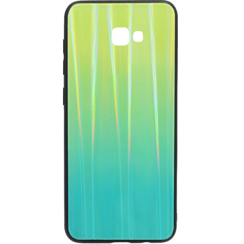 Накладка Gradient Glass Case Samsung J4 Plus (Зелёный)