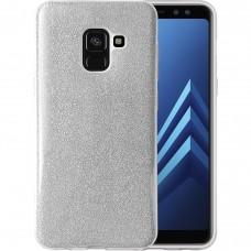 Силикон Glitter Samsung Galaxy A8 (2018) A530 (Серебряный)
