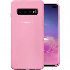 Силикон Original Case Samsung Galaxy S10 Plus (Розовый)