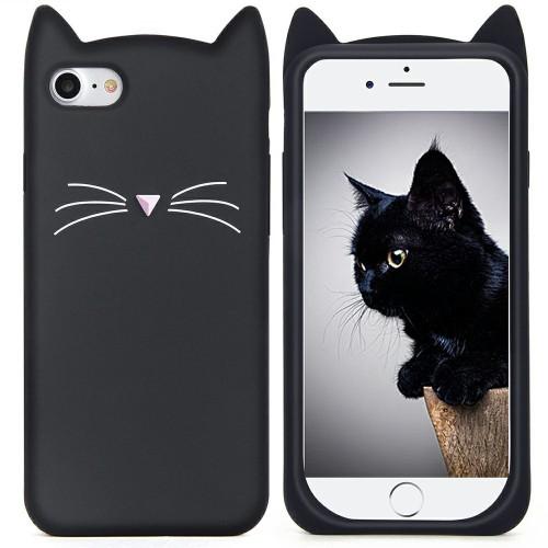 Силиконовый чехол Kitty Case Apple iPhone 7 / 8 (чёрный)