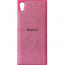 Силикон Textile Sony Xperia XA One / XA1 (Розовый)