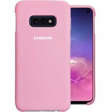 Силикон Original Case Logo Samsung Galaxy S10e (Розовый)