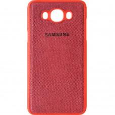Силикон Textile Samsung Galaxy J7 (2016) J710 (Красный)