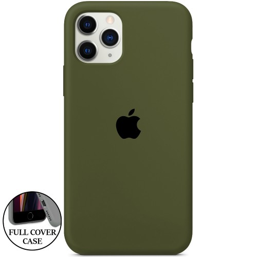 Силикон Original Round Case Apple iPhone 11 Pro (46) Deep Green
