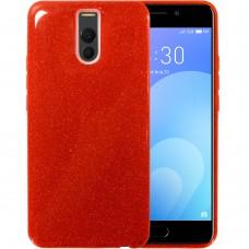 Силиконовый чехол Glitter Meizu M6 Note (Красный)