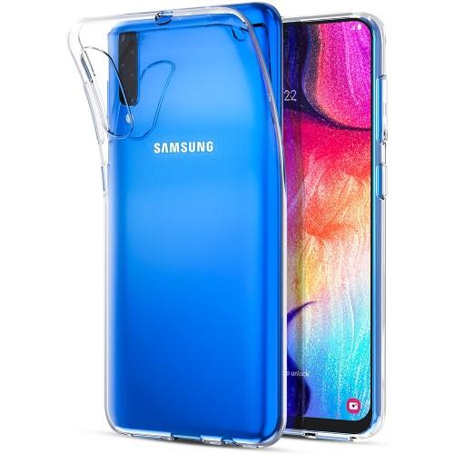 Силиконовый чехол WS Samsung Galaxy A7 (2018) A750 (прозрачный)