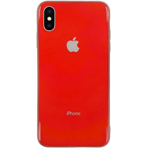 Накладка Premium Glass Case Apple iPhone X / XS (красный)