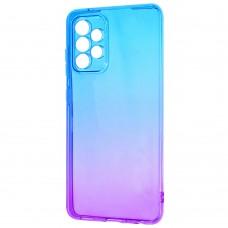 Силикон Gradient Design Samsung Galaxy A52 (2021) (Сине-фиолетовый)
