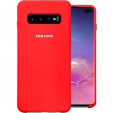 Силикон Original Case Samsung Galaxy S10 Plus (Красный)
