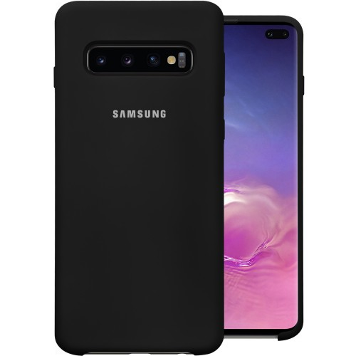 Силикон Original Case Samsung Galaxy S10 Plus (Чёрный)