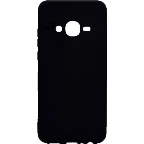 Силиконовый чехол Samsung J200 (черный)