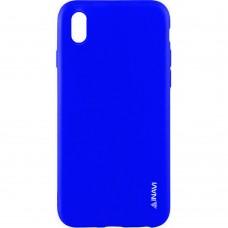 Силиконовый чехол iNavi Color Sony Xperia XA (Синий)