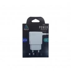 СЗУ-адаптер iNavi MicroUSB-кабель + 2USB / 2A (AF-04) (серебрянный)