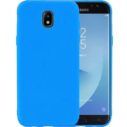Силикон iNavi Color Samsung Galaxy J7 (2017) J730 (голубой)