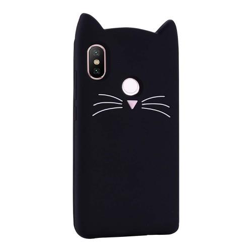Силикон Kitty Case Xiaomi Mi A2 Lite / Redmi 6 Pro (чёрный)
