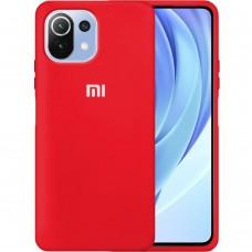 Силикон Original 360 Case Logo Xiaomi Mi 11 Lite (Красный)