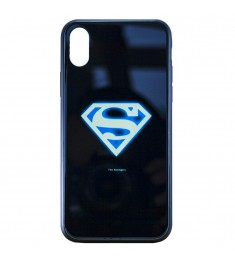 Накладка Luminous Glass Case Apple iPhone XR (Superman)
