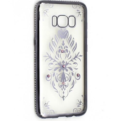 Силиконовый чехол Kingxbar Diamond Huawei Y3 2017 (Герб, Серый)
