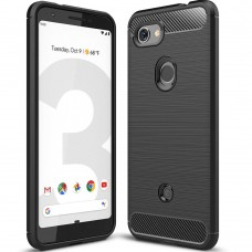 Силикон Polished Carbon Pixel 3A (Чёрный)