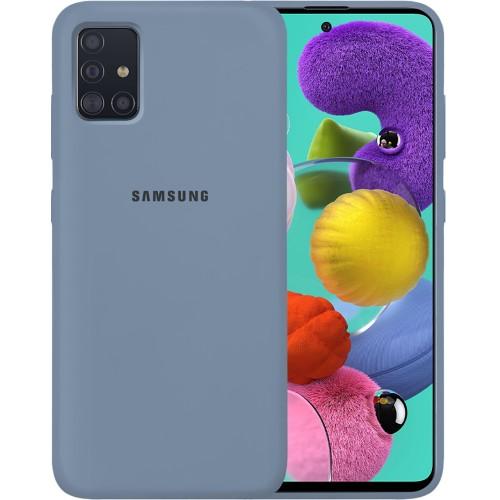 Силикон Original 360 Case Logo Samsung Galaxy A51 (2020) (Серый)