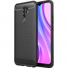 Силикон Polished Carbon Xiaomi Redmi 9 (Чёрный)