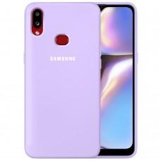 Силикон Original 360 Case Logo Samsung Galaxy A10s (2019) (Фиалковый)
