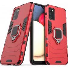 Бронь-чехол Ring Armor Case Samsung Galaxy A02S (2020) (Красный)